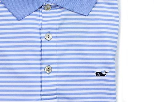 Vineyard Vines Mens Westall Stripe Golf Polo Hydrangea Blue Shirt