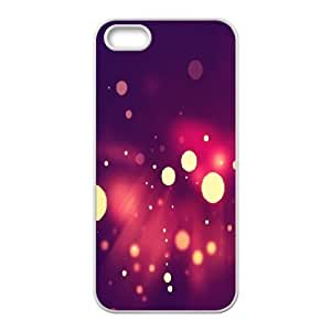 For Ipod Touch 4 Phone Case Cover Abstract Yellow Circles Bokeh Red Light Hard Shell Back White For Ipod Touch 4 Phone Case Cover 340870