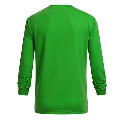 NUWFOR Men Women Couple St Patrick's Day Print Long Sleeve Green T Shirt Top Blouse(Green,M US Chest:38.6'' by NUWFOR (Image #1)