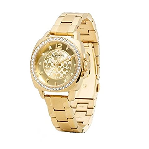 Coach Women's 14501700 Mini Boyfriend Gold Tone Bracelet Watch (Coach Women Gold Watch)
