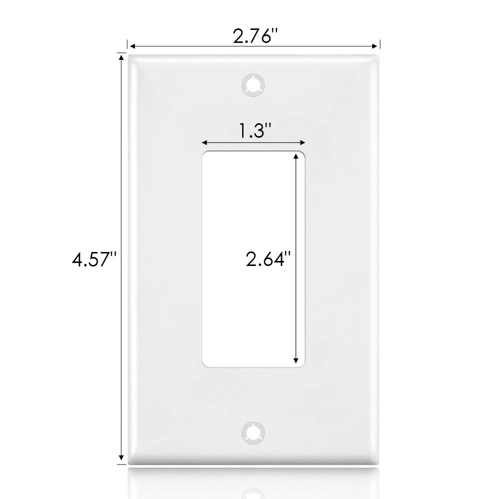 Outlet Covers, 1 Gang Decorator Wall Plates Light Switch Cover White Electrical GFCIs Receptacle Wallplate, Standard Size, Unbreakable Polycarbonate, 12 Pack by CRANACH (Image #5)