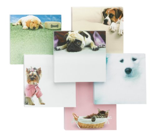 Post-it Super Sticky Printed Notes, 4 in x 4 in, Pet Designs, 1 Pad/Pack, 75 Sheets/Pad (6355-PET-CITY)