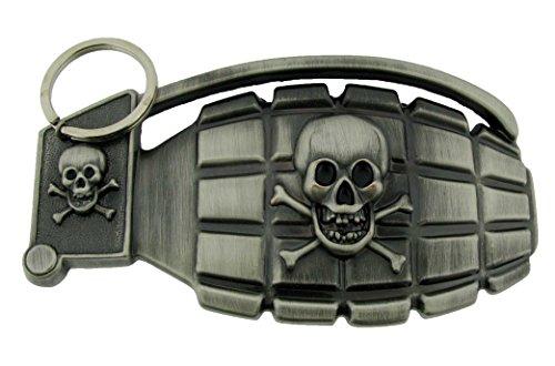 Buckle Rage Adult Unisex Skull Eagle Biker Wheel Demon Belt Buckle Silver Tone (Eagle Metal Belt Buckle)