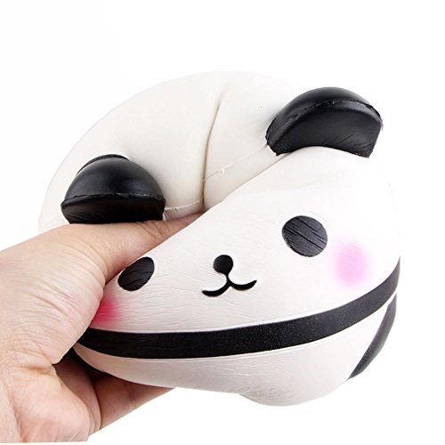 Gudelaa Squishies Panda Egg Slow Rising Kawaii Scented Soft Animal Squishies Toys Relief Stress Toy white by Gudelaa