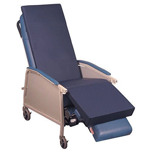 Blue Chip Medical Products 6200NS Blue Chip Medical Gel Recliner Overlay for Home Recliner, Geri Chair & Lift Chair Made in USA Hospital Grade ()