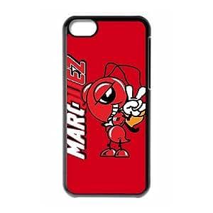 MARC MARQUEZ 93 03 para la funda caja del teléfono celular 5c mejor cubierta del funda iPhone negro