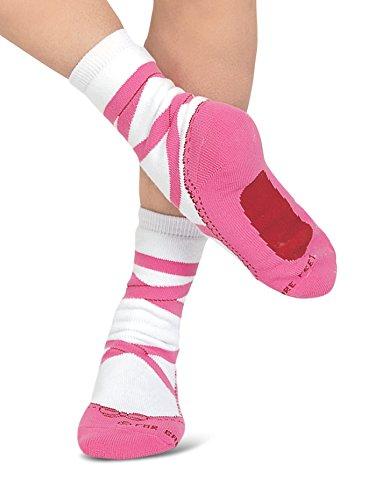 For Bare Feet Pink Ballet Slipper Adult Medium Socks