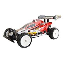 ALEKO® 06080 4 Wheel Drive Electric Power RC Off Road Buggy, Red 1/10 Scale