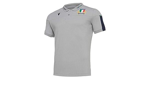 Macron Italia Rugby Polo 6 Naciones Fir - 58100135, X-Large ...