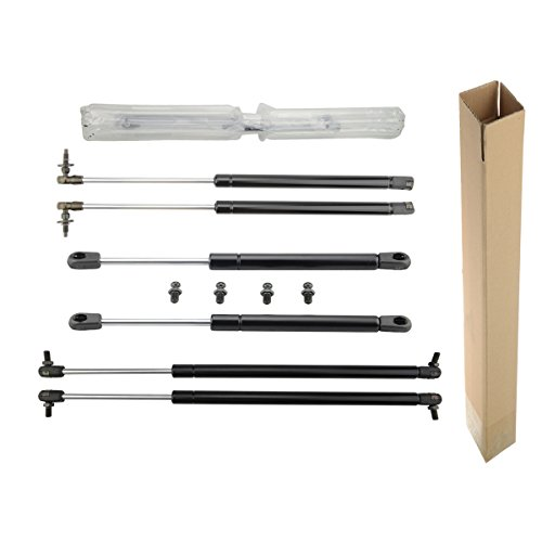 A-Premium Hood Tailgate and Rear Window Lift Supports Shock Struts for Jeep Grand Cherokee WJ 1999-2004 6-PC Set