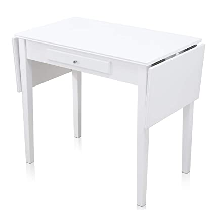 Amazon.com: Chende White Makeup Vanity Table with Drawer and Drop ...