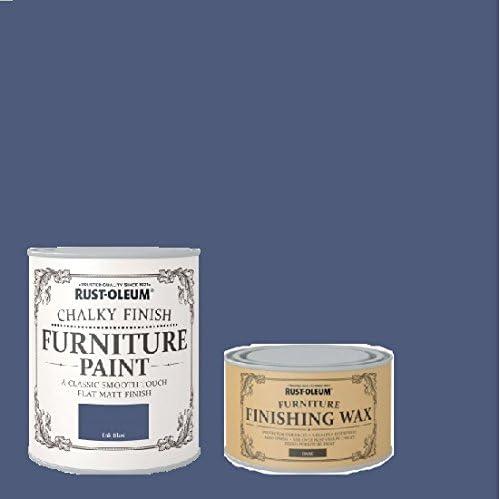 Rust-oleum Chalky muebles pintura de tinta azul 125 ml con ...