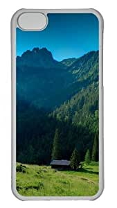 House In The Mountains PC Case Cover for iPhone 5C Transparent