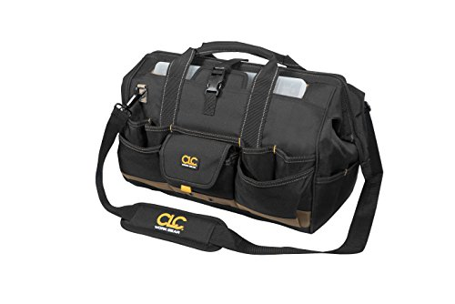 Bag Tool Man Carrier (CLC Custom Leathercraft 1535 18 Inch Tote Bag with Top Plastic Tray and 37 Pockets)