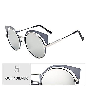 TIANLIANG04 Gafas De Sol Para Mujeres Anti Reflejo Gafas De Sol Polarizadas Uv400,Pistola Silver