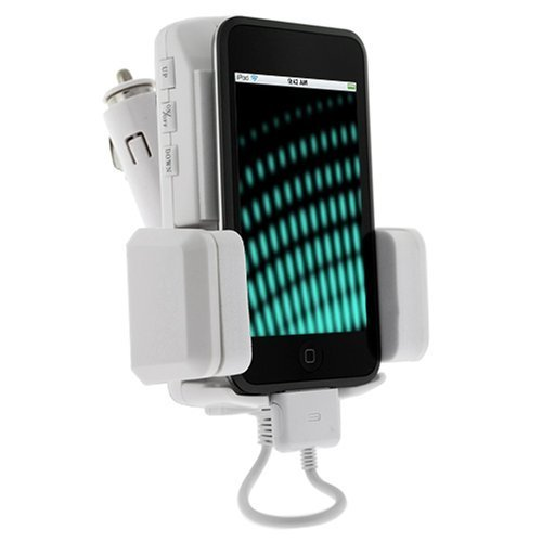 30gb Portable Video (5 in 1 Fm Transmitter (White)// iPod Video, 30GB, 60GB, Nano 1,2,3, Mini, Classic iTouch, and Photo)