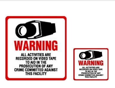 Amazon.com: Cartel de seguridad y vinilo – # 204 Vídeo ...