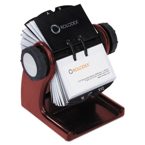 Wholesale CASE of 5 - Rolodex Wood Tones Rotary Business Card Files-Rotary Business Card File, Mahogany by Rol