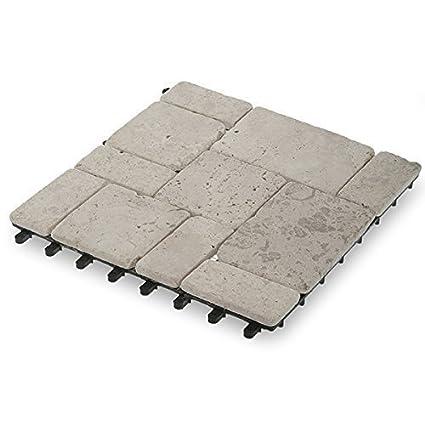 Jardín vientos dt04-fl011 Travertino piedra Deck Azulejos, Caja de 10