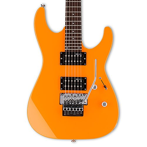 ESP LM50FRNOR Solid-Body Electric Guitar, Neon Orange