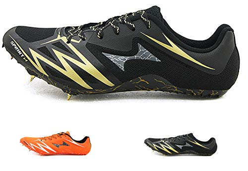 HEALTH Men's Track Spike Shoes Running Distance Sprint Track and Field Spikes Mesh Breathable...