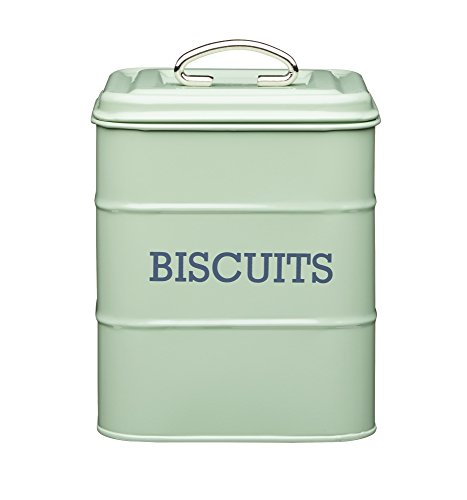 Living Nostalgia Vintage Style Airtight Biscuit Cookie Tin English Sage Green - 14.5cm x 19cm 6