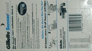 Gillette Sensor Excel. Razor with Handle 1 Piece