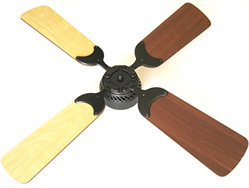 Global Electric 36-inch DC 12V Non-Brush Ceiling Fan for RV, Oil Rubbed Bronze Finish with Remote Control. Maple/Cherry Reversible Blades