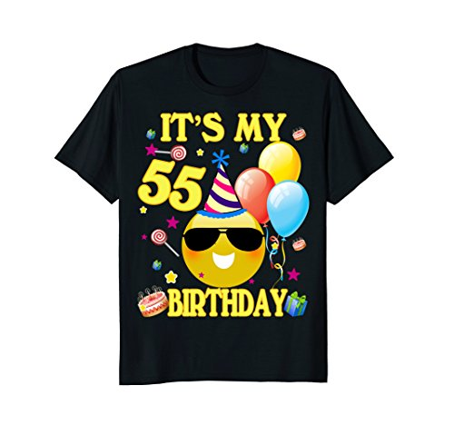 Cute Emoji 55 Years Old Shirt It's My 55th Birthday Gift (55th Gift Birthday)