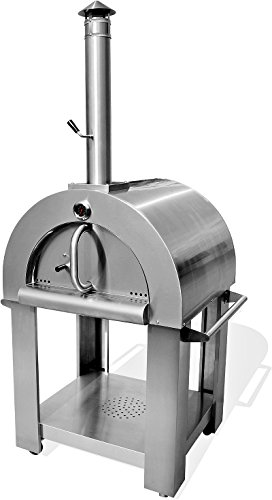 Pizza Oven Outdoor Artisan Wood-Fired Stone Bake 32.5 Inch W Commercial Stainless Steel - Cooking Accessories - Model WP001SS