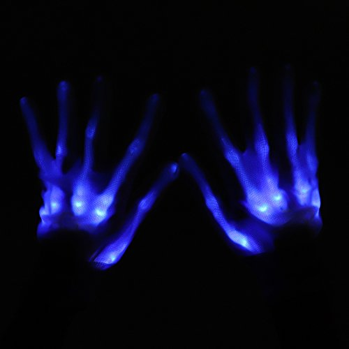 Light up Gloves, LED Rave Gloves Glow Finger Light Gloves Toys 6 Adjust Modes