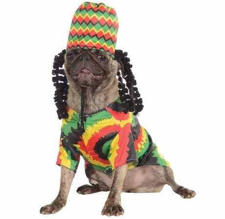 Rubie's Pet Costume, Medium, Rasta -