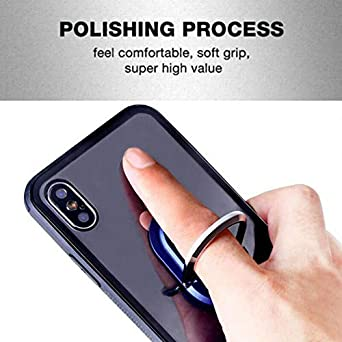 Rotation Stand Phone Ring Holder Finger Kickstand Black Sandistore Multipurpose Mobile Phone Bracket Holder 360/° Rotation Metal Ring Grip for Magnetic Car Mount with All Smartphone for Car