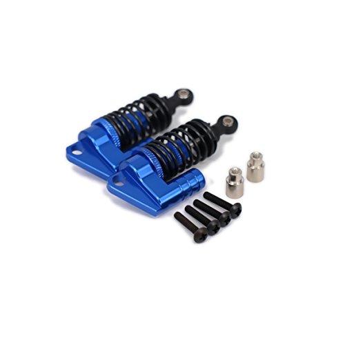 2Pcs Oil Adjustable 68mm Alloy Aluminum Piggyback Shock Absorber Damper S102004 for Rc Car 1/10 On Road Drift Car Upgraded Hop-Up Parts HPI HSP Traxxas 102004(Dark Blue)
