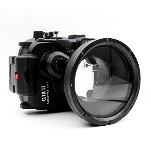 EACHSHOT 40m/130ft Underwater Camera Housing for Canon PowerShot G1X II by EACHSHOT
