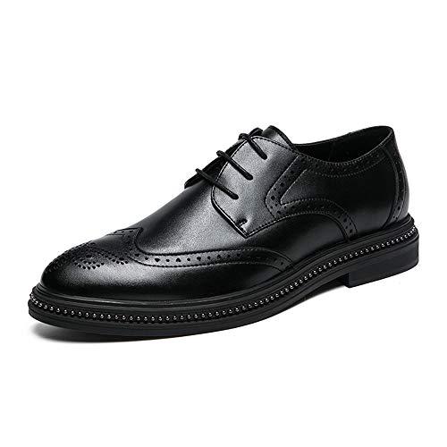 Hombres Los Retro Suela Cinta La Oxford men's Limpie De Shoes Talla Brogue Cómoda Negro Casual Simple Zapatos Xhd Moda 6qY1w6PX
