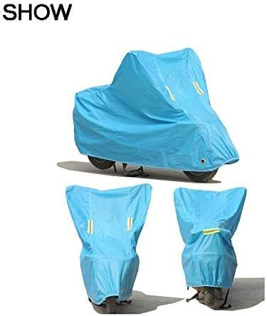 ナイロン布オートバイ雨カバー電気自動車防塵カバー付き盗難防止ロックマウンテンバイク防雨保護カバー B20/05/18 (Color : Gray, Size : 203x89x122)