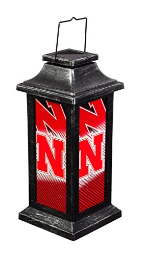 Team Sports America University of Nebraska Solar-Powered Outdoor Safe Hanging Garden Lantern
