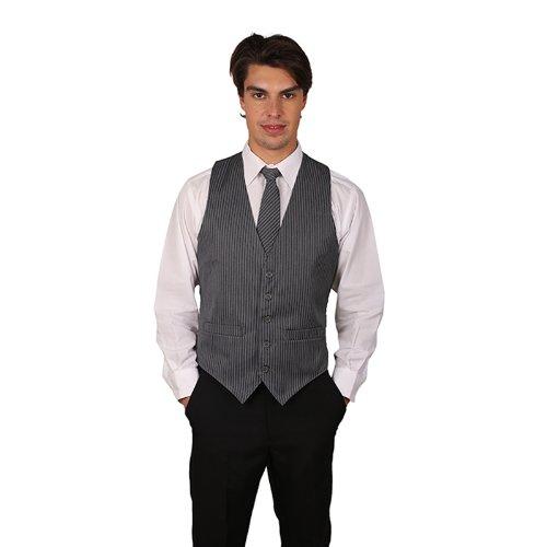 Men's Grey Pinstripe Cotton Vest XXX Large