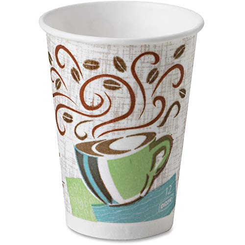 Dixie 5342DXPK Perfect Touch Hot Cup, Wise Size,12 oz, 25/PK, Multi