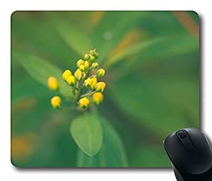 Mouse Pad Yellow Buds Desktop Laptop Mousepads Comfortable Office Mouse Pad Mat Cute Gaming Mouse Pad