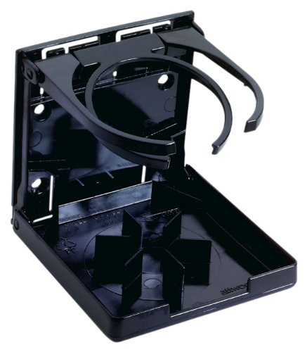 Attwood 2445-7 Fold-Up Dual Ring Drink Holder (Black) ()