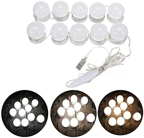 Rubik Led Vanity Mirror Lights Hollywood Style 12 Dimmable Makeup Mirror Bulbs With 3 Modes 3000k 4000k 6500k Color Temperature And Power Supply Adapter For Home Bedroom Bathroom Dressing Room Price In Uae