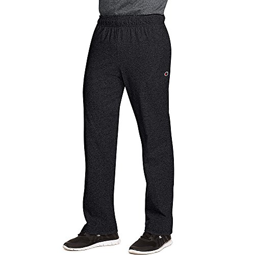 Champion Relaxed Jersey Pant - Champion by Authentic Men's Open Bottom Jersey Pants_Granite Heather_Medium