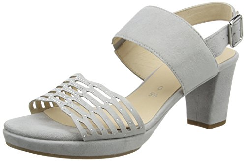 Gabor Shoes 62.393, Sandalias de Tacón Mujer Gris (Gris Claro A.OBL 30)