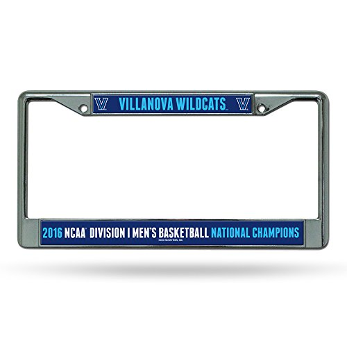 NCAA Villanova Wildcats 2016 Mens National Basketball Champions Chrome Plate (Frame Ncaa Mens Basketball)