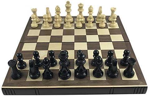 HAOT Libros de ajedrez internacionales Forma Tablero Plegable de Madera de ajedrez Caja de ajedrez sólida