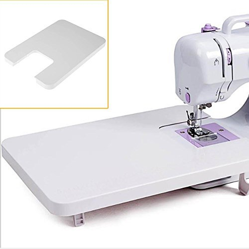 Whitelotous Domestic Sewing Machine Extension Table Plastic Expansion Board Household Sewing Tool Accessories 14'' x 10'' by Whitelotous
