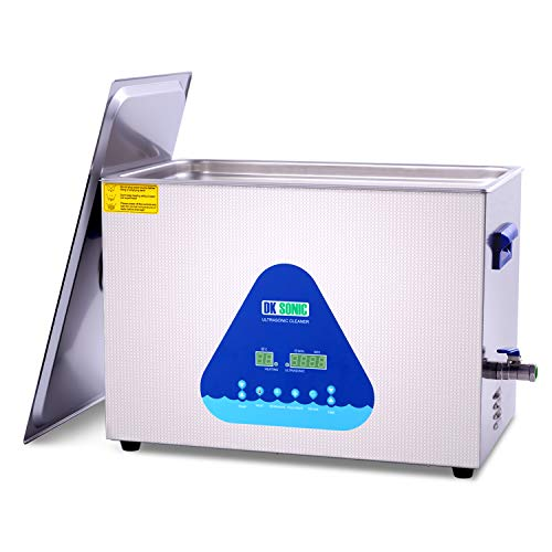 Large Professional Ultrasonic Cleaner - DK SONIC 30L 600W Sonic Cleaner with Heater and Basket for Metal Parts,Carburetor,Fuel Injector,Brass,Auto Parts,Engine Parts,Motor Repair Tools,etc