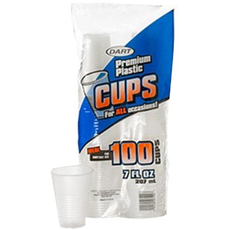 7 oz. Translucent Plastic Cup - 1200 per case - 12 packs of 100 cups